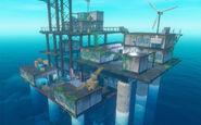 Радиовышка заросшая зеленью в игре Raft