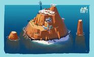 Остров с сакурой арт