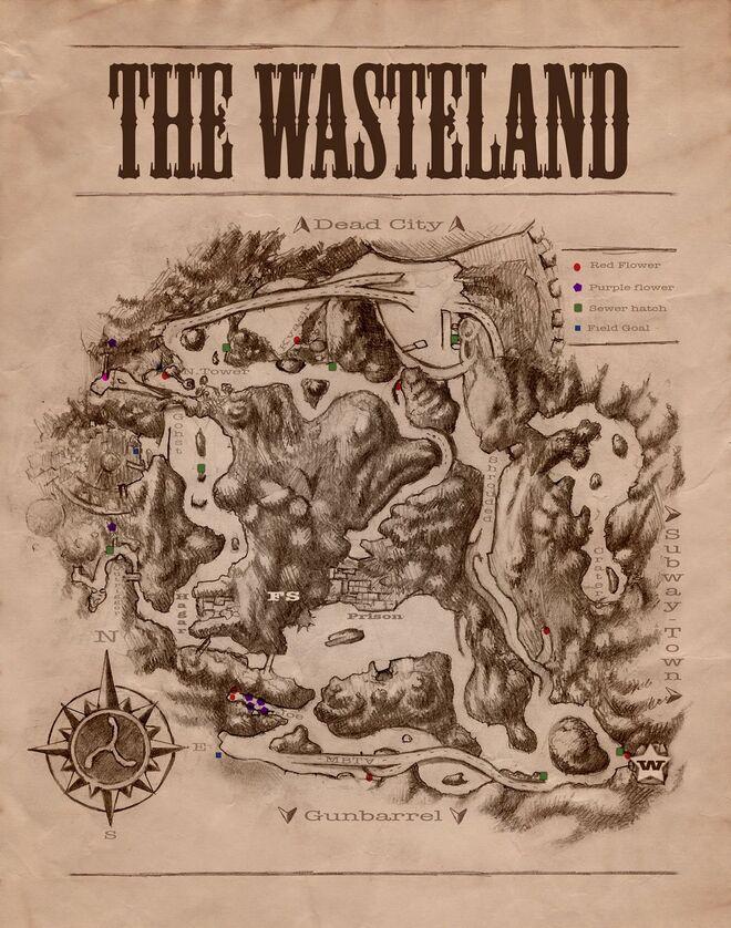 Northern Wasteland map