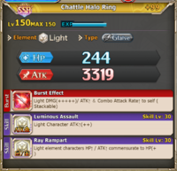 FLB Chattle Halo Ring +99