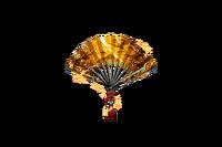 Night Bird Folding Fan