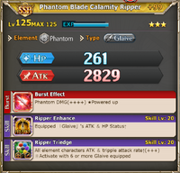 MLB Phantom Blade Calamity Ripper +99