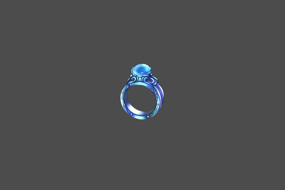 Deep Aqua Ring