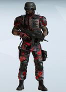 Castle Scarlet Camouflage Uniform