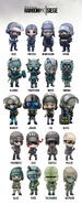 Rainbow Six opertators (chibi)