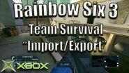 "Rainbow Six 3 Team Survival on ""Import Export"" Original Xbox Game Night"