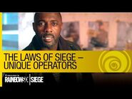 Tom Clancy's Rainbow Six Siege Official - The Laws of Siege – Unique Operators -NA-
