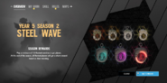 Steel Wave Charms