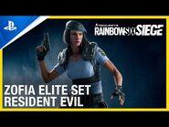 Rainbow Six Siege - Zofia Elite Set- Resident Evil Collaboration - PS4