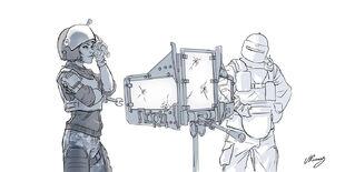 R6 Siege -Red Crow reinforcements sketch