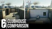 CLUBHOUSE FULL MAP COMPARISON (OLD VS NEW) - Rainbow Six Siege