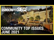 Rainbow Six Siege- June 2021 Top Issues - Ubisoft -NA-