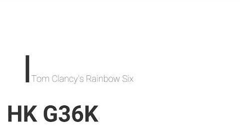 Rainbow Six- HK G36K