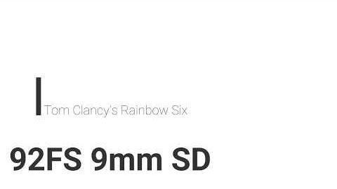 Rainbow Six- 92FS 9mm