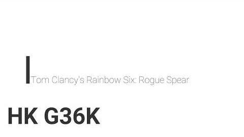 Rainbow Six- Rogue Spear HK G36K