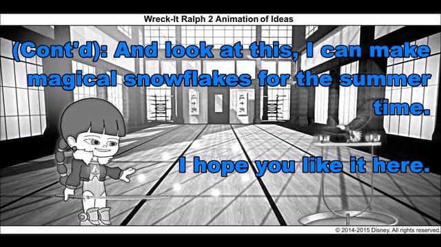 Wreck-It Ralph 2 Animation of Ideas 3