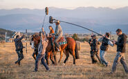 Rambo Last Blood Rambo on horse BTS