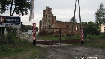 Ruiny neogotyckiego spichlerza z początku XIX w.