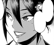 Nemuri tells Shota she got a job at U.A. High School.png