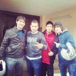 Porta con Isusko, Krobe y Alex