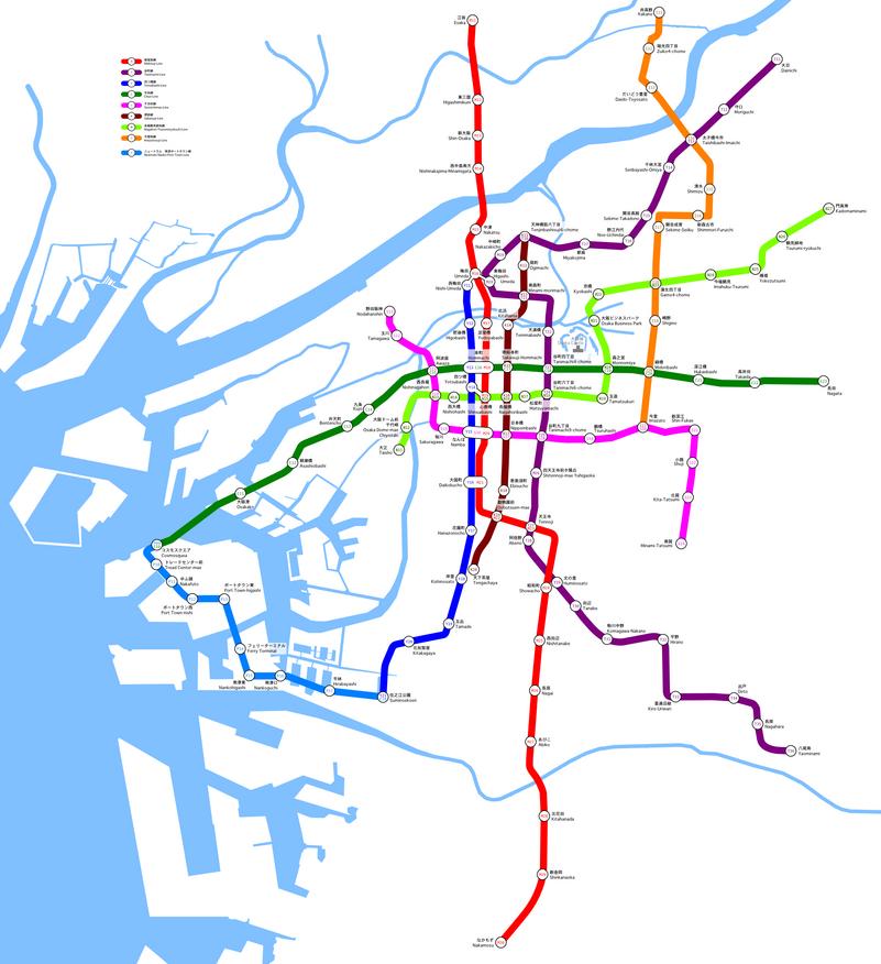 Osaka Municipal Subway Map.png