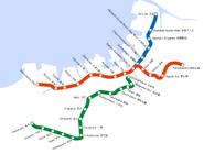 Fukuoka City Subway Map