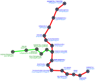 Tbilisi Metro Map