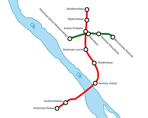 Novosibirsk Metro Map.png