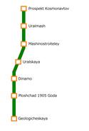 Yekaterinburg Metro Map