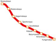 Samara Metro Map