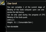 Clear scroll