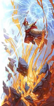 A Wizard, Elminster, wielding very powerful magic..png