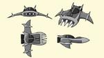 Technomite ship 3 concept art