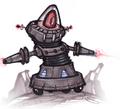 Megacorp Laser Bot concept art