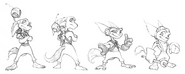 Ratchet from R&C (2002) concept art 2