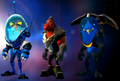 Intergalactic Foot Soldier Pack blue team skins