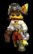Plundering Pirate Captain skin render