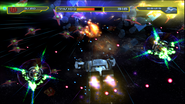 Destroy the space fortress gameplay