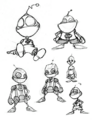 Clank from R&C (2002) concept art 2