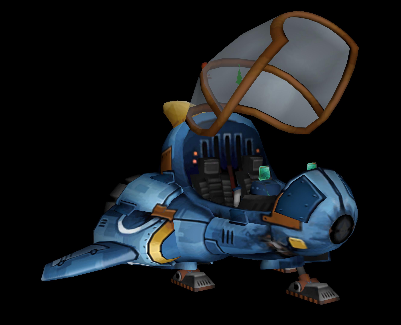 Ratchet's homemade ship