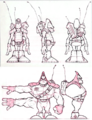 Blarg trooper and commander from R&C (2002) concept art