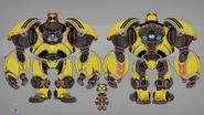 Kit Warbot Mode Concept Art (The Art of Ratchet & Clank Rift Apart)