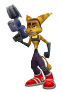 Ratchet clone (flamethrower) render