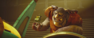 Grimroth with Qwark statuette