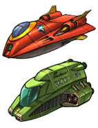 Courier ship and Qwark tour ship from R&C (2002) concept art