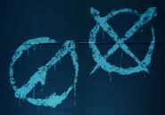 Resistance graffiti crosses
