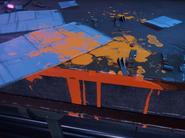 Resistance orange paint