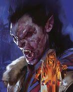 Dd curse of strahd madam eve and vampire form Strahd