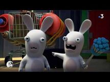 Two Rabbids with the Shopping Cart Rocket