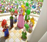 Mario+rabbids-kingdom-battle-nintendo-switch-finale-mario-yoshi-peach-luigi-rabbid-clones-statue